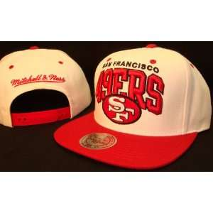 White & Red San Francisco 49ers Adjustable Snap Back Baseball Cap Hat