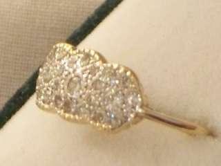 EDWARDIAN 18CT GOLD PLATINUM DIAMOND TRIPLE CLUSTER RING