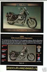 1982 82 HARLEY DAVIDSON 25TH ANNIVERSARY SPORTSTER CARD