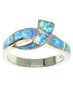 Sterling Silver and Created Opal Ring