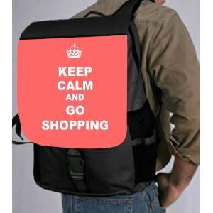 Keep Calm and Go Shopping   Tropical Pink Color Back Pack