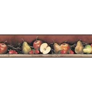 Burgundy Apple Wallpaper Border: Home Improvement
