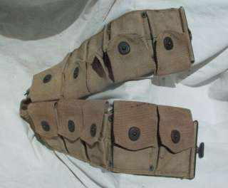 US Army USMC Soldiers Khaki Rifle Ammo Cartridge Belt, 1918