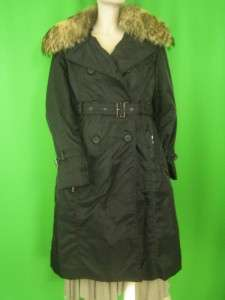 ANDREW MARC NEW Black Coat Detachable Sheared Fur Lining M