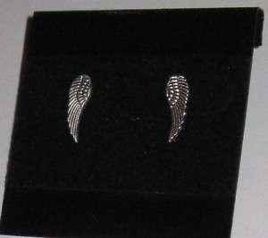 Pi Beta Phi Silver Angel Wing Stud Post Earrings
