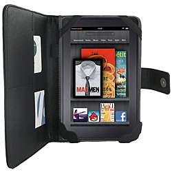 Kroo  Kindle Fire Black PU Leather Case