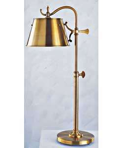 Adjustable Vintage Brass Finish Pharmacy Table Lamp