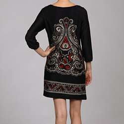 Soho Apparel Womens Placement Print Dress