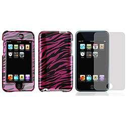Apple iPod Touch 2 Purple/ Black Zebra Case