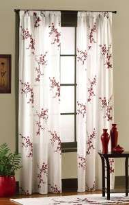 ASIAN INSPIRED CHERRY BLOSSOM TAB TOP DRAPES NEW