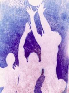 Silhouette of Basketball Game Photographic Print by Lonnie Duka at