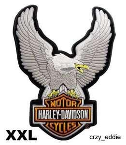 HARLEY DAVIDSON UPWING EAGLE BAR SHIELD VEST JACKET PATCH 2XL