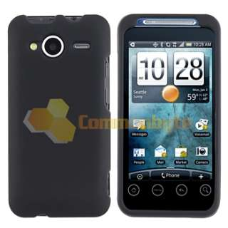 Black+White Hard Cover+Privacy LCD For HTC EVO Shift 4G