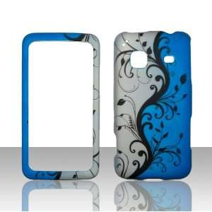 Blue Vines Samsung Galaxy Precedent Straight Talk Phone