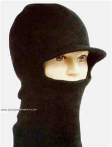Mens Womens Winter Ski Mask Knit Hoody Hat Cap