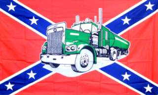 Rebel Truck Big Rig Confederate USA 3x5 American Flag