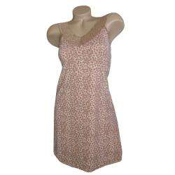 Vanity Fair Body Foundation Womens Leopard Print Full Slip