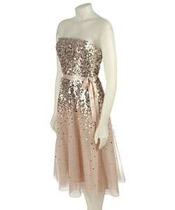 BCBG Max Azria Strapless Sequined Dress