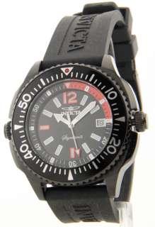 Invicta Mens Black Rubber Strap Date Internal Rotating Diver Bezel