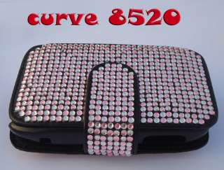 3D Hello Kitty Bling Leather Case Pouch Belt For Blackberry Curve 8520