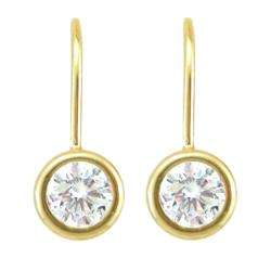 10k Gold April Birthstone White Topaz Earrings