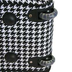 World Traveler 21 inch Houndstooth Carry on Rolling Duffel Bag