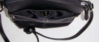 NEW GIANI BERNINI BLACK SOFT LEATHER CROSSBODY BAG