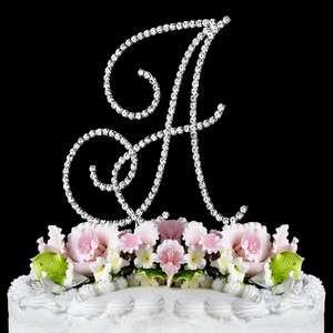 Crystal Monogram Initial Wedding Cake Topper Top