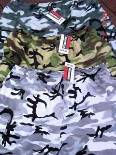 MENS CARGO ARMY CAMO COMBAT SHORTS BIG 2XL 3XL 4XL 5XL
