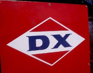 Vintage Original Old DX Porcelian Oil Gasoline Pump Sign Gas service
