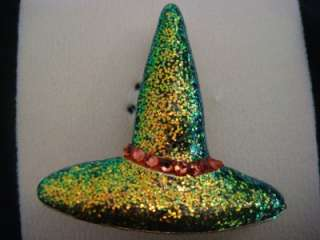 NEW KIRKS FOLLY WINIFRED WICKED WITCH HAT SPARKLE PIN