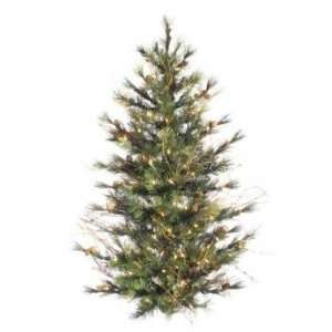 Pine Wall or Door Christmas Tree   Clear Lights