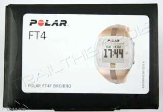 POLAR FT4F FITNESS SERIES HEART RATE MONITOR BRONZE WOMENS WATCH FT4