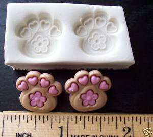 Fancy Dog Cat Paws Clay Push Mold   Puppy Dog Paw Print