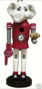 UNIV OF ALABAMA CRIMSON TIDE MASCOT NUTCRACKER ORNAMENT