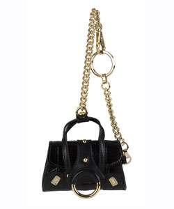 Dolce & Gabbana Black Leather Keychain