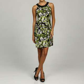 Jessica Howard Womens Petite Lime Pleated Neck Dress  Overstock