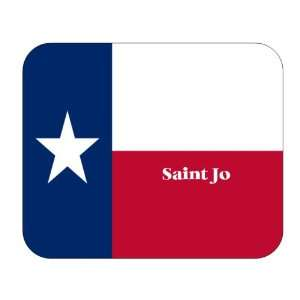 US State Flag   Saint Jo, Texas (TX) Mouse Pad Everything