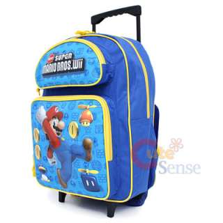 Super Mario Wii School Roller Backpack Rolling Bag 2