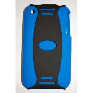 KingCase iPhone 3G & 3GS 2 Piece Case (Black & Blue)