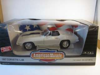 ERTL AMERICAN MUSCLE 1967 CORVETTE L 88 118 SCALE DIE CAST CAR WITH