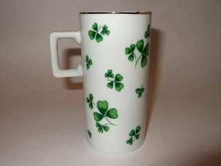 LEFTON CHINA Handpainted IRISH COFFEE Shamrock MUG RARE