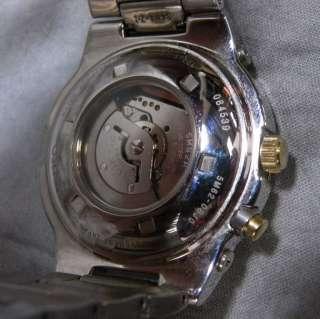 Seiko Mens SKA478 Kinetic Two Tone Stainless Watch
