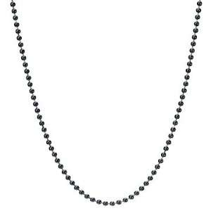 Add a Bead Charm Pendant Necklace Ball Chain Opaque Black