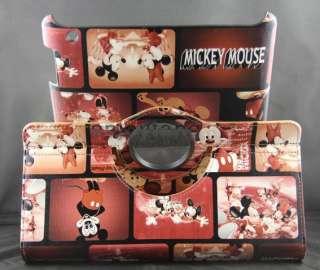 New Cute Mickey Flip PU Leather skin cover case for iPad2 ipad2