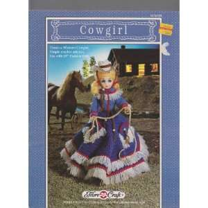 Cowgirl ; 15 Fashion Doll Clothes Crochet Instructions