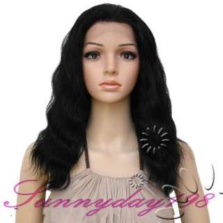 Jet Black 100% Pure Indian Remy Human Hair Lace Front & Full Lace Wigs