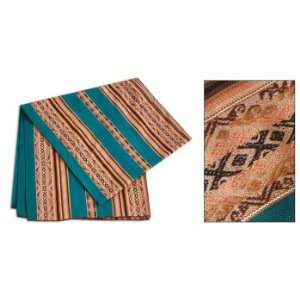 Cotton throw, Blue Mountain Ranges (rectangular)