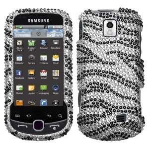 SAMSUNG M910 (Intercept) Black Zebra Skin Diamante Protector Cover