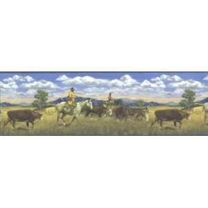 Hautman Brothers Cattle Drive Border: Home & Kitchen